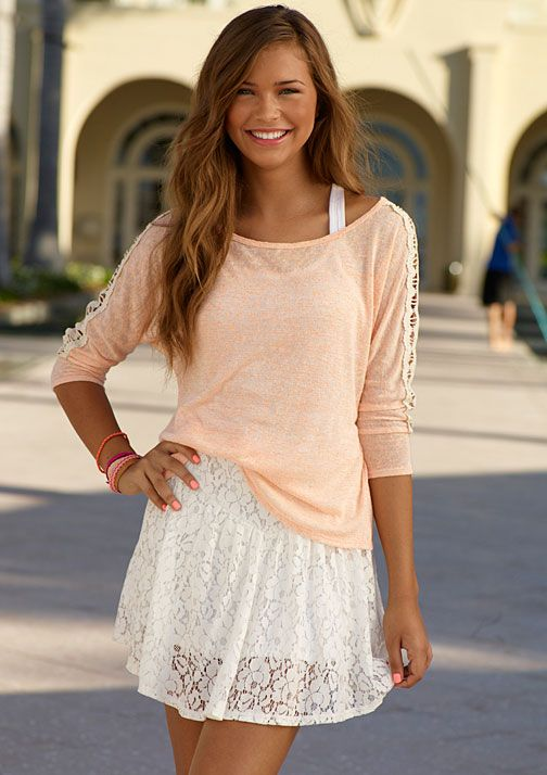 : Summer Outfit, Dream Closet, So Cute, Spring Summer, White Lace, Lace Skirt, Lace Dresses