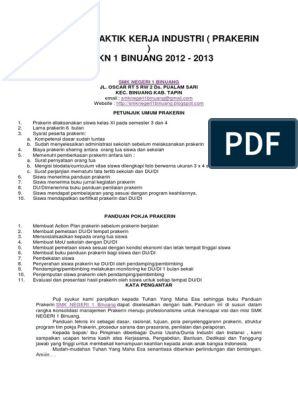 Panduan Praktik Kerja Industri Docx Reading