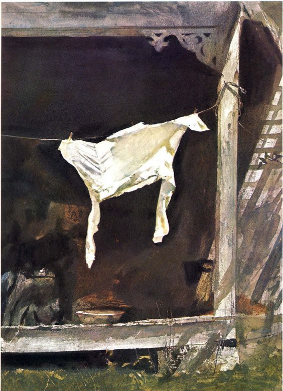 Andrew Wyeth - The Bachelor (1964) | Washer Odor? | Sour Smelling Towels? | Stinky Clean Laundry? | http://WasherFan.com | Permanently Eliminate or Prevent Washer & Laundry Odor with Washer Fan™ Breeze™ | #Laundry #WasherOdor