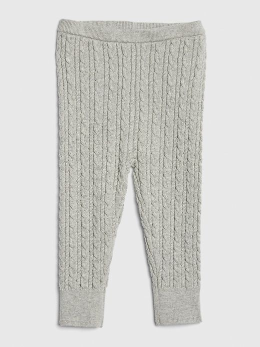 Gap Baby Cable Knit Sweater Leggings Light Heather Gray Baby Girl Pants Baby Girl Leggings Leggings Are Not Pants