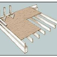 Say you've got a large room that you want to break up by putting in a raised floor at one end. Even though it's only going to be raised by one step, you still have to set up a floor joist system and top it with subflooring. It's an involved project that you shouldn't undertake unless you have strong carpentry skills. This plan assumes the new...
