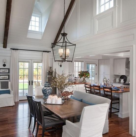 Vaulted Ceilings Are Known Formally As Well As Informally With Numerous Classifications In Mo Dining Room Seating Dining Room Light Fixtures Dining Room Design
