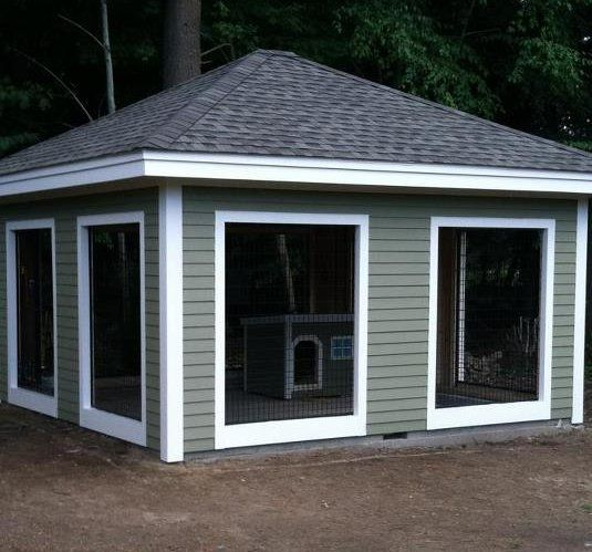 Dog condo kennel amazing would have to be heated and for Amazing dog kennels