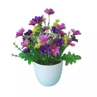 Fantastis 18 Gambar Bunga Di Dalam Pot Venicenight 1 Pc Buatan Bunga Dalam Pot Taman Diy Pesta Rumah Liburan Kerajinan Na Bunga Bunga Buatan Menggambar Bunga