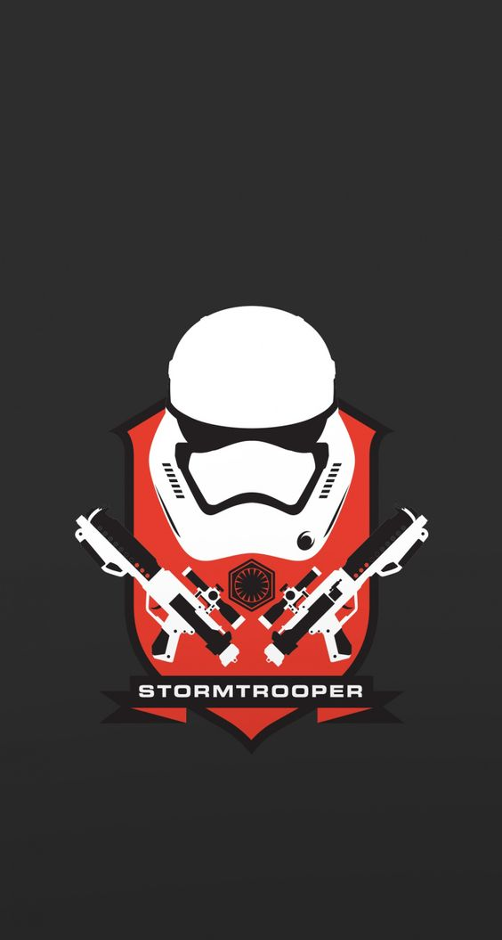 Star Wars Stormtrooper. Tap to see more Star Wars Force Awaken movie iPhone wallpapers! Star Wars iPhone Wallpapers, backgrounds, fondos. - @mobile9