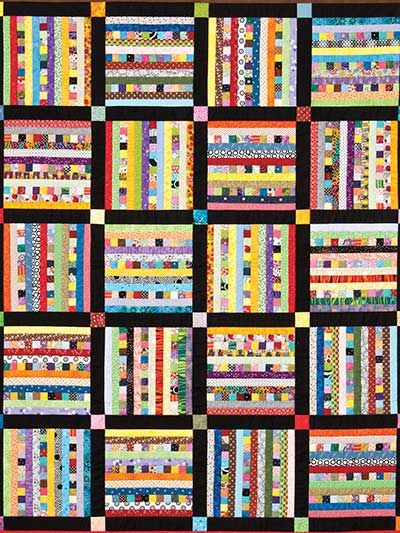 Sticks & Stones scrap quilt pattern at Annie's..  This pattern was originally published in the October 2012 issue of Quilter's World magazine.