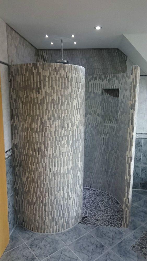 Schneckendusche Befliesbar Mosaik Duschwand Heimwerker Bad