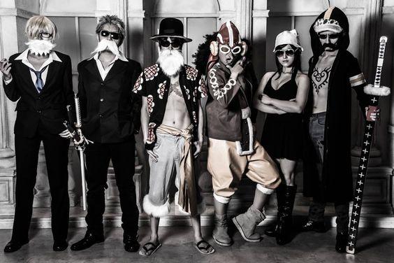 Cosplay Sanji, Roronoa Zorro, Monkey D. Luffy, Ussop, Nico Robin, Trafalgar Law