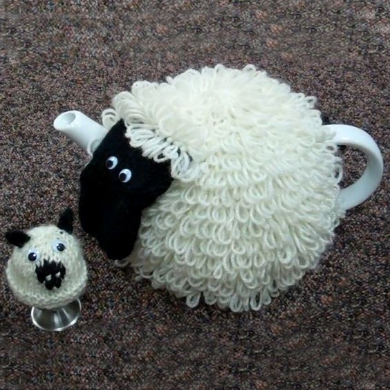 Sian the Sheep Tea and Egg Cosy Knitting Kit - includes ...