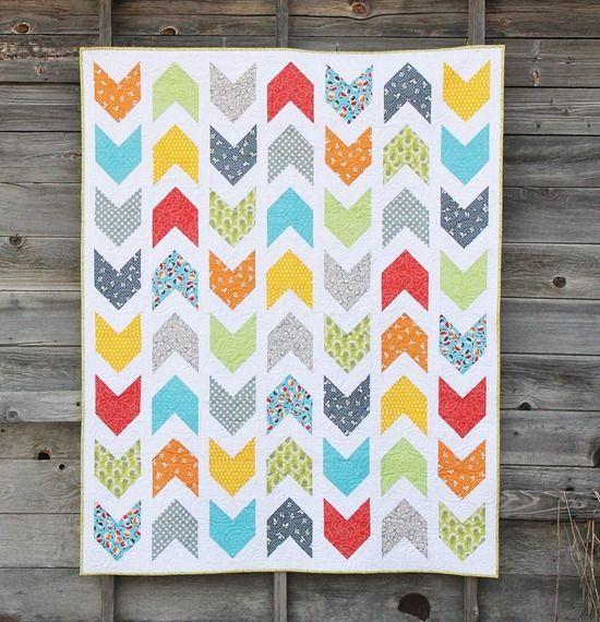 Pow-Wow by Allison Harris of Cluck Cluck Sew: Sewing Quilt, Quilt Inspiration, Arrow Quilt, Quilt Patterns, Paper Pattern, Quilt Idea, Modern Quilt, Baby Quilt