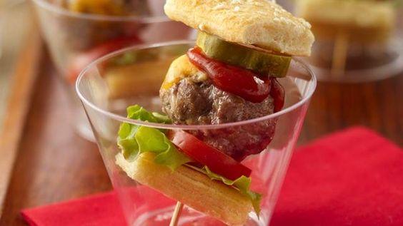 Juicy Lucy Meatball Skewers - cute appetizer!