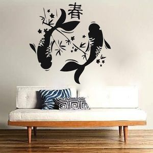 Japanese Koi Fish Wall Decal - From Trendy Wall Designs