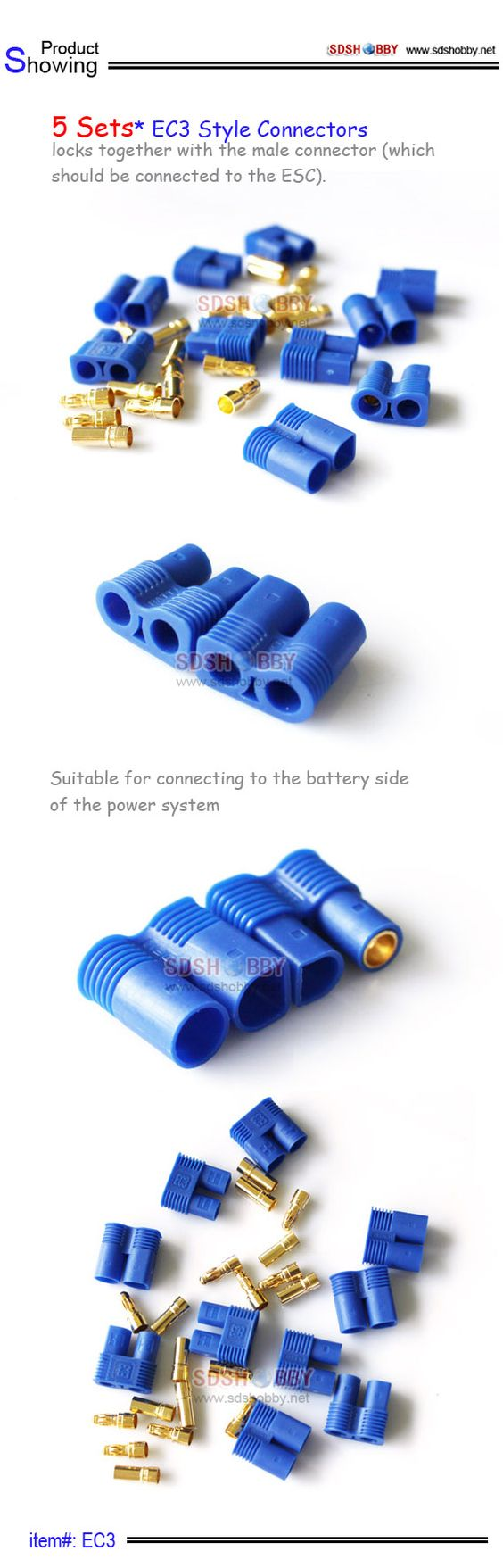 EC3 Style Connectors /5 Sets