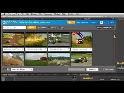 Adobe Premiere Pro CS6 Partner Panels featuring Pond5