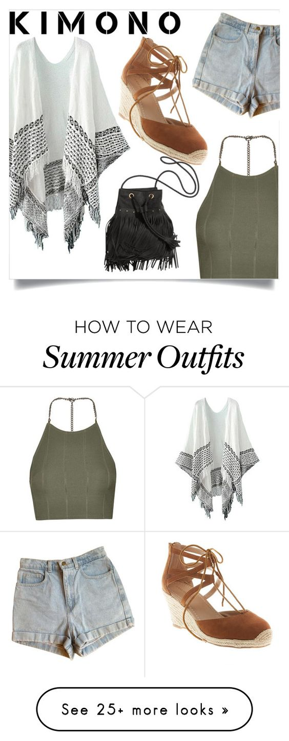 """""""Kimono outfit"""" by lraecap on Polyvore featuring Topshop, American Apparel, Lane Bryant and kimonos"""