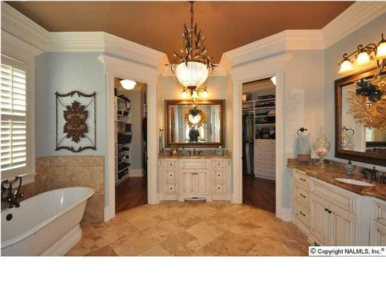 Pinterest the world s catalog of ideas for Master bathroom with walk in closet