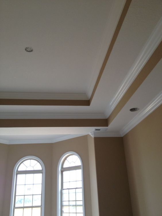 Pinterest the world s catalog of ideas for Tray ceiling trim ideas