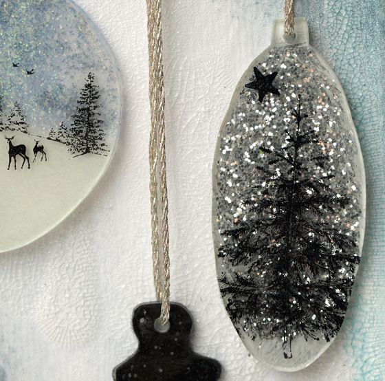Layers of ink: Shrink plastic baubles
