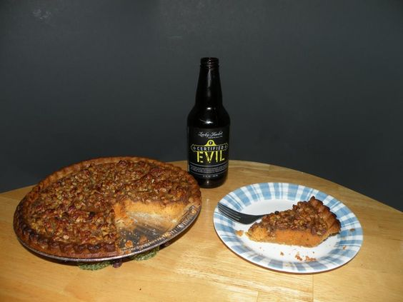 Certified Evil Sweet Potato Pecan Pie sent in and baked by Laurence Ballard