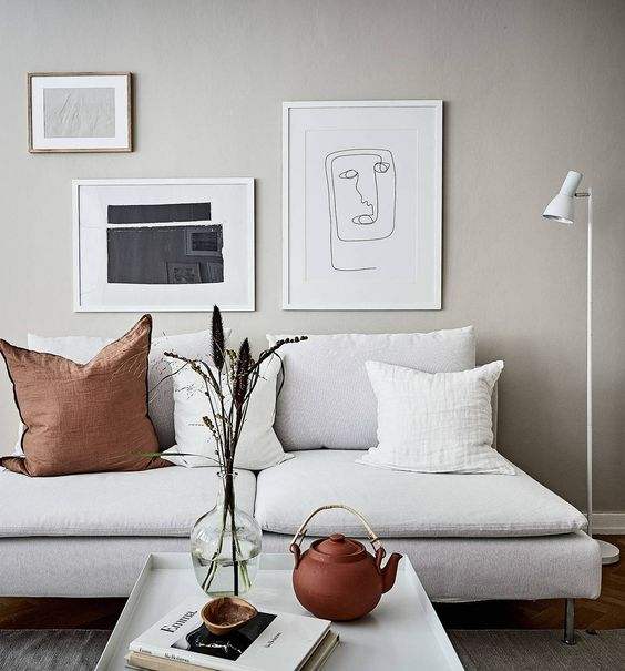 Trendy Scandinavian Decor Room