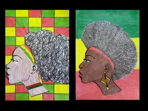 Consciencia Negra Cabeleira Artistica Arte Na Sala De Aula