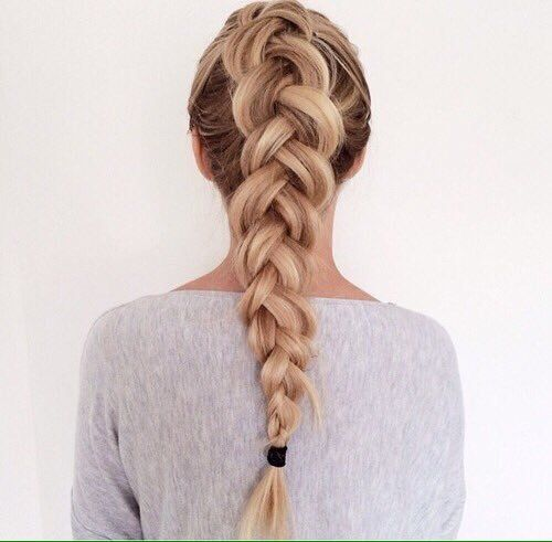 blonde, chick, hair, trenza