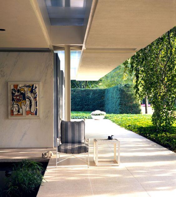 Miller House - Indoor/outdoor living. Designed by Saarinen, landscape by Dan Kiley, interior by Alexander Girard