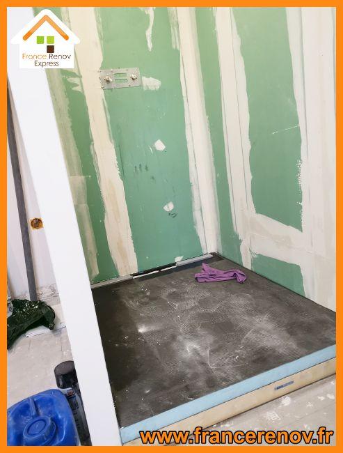Renovation Complete Avec Creation D Une Douche Italienne Douche Italienne Douche Meuble Double Vasque