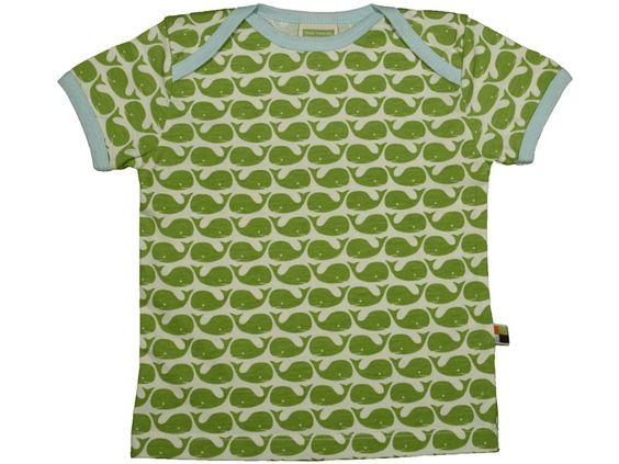 T-Shirt mit Walen in moosgrün von loud + proud