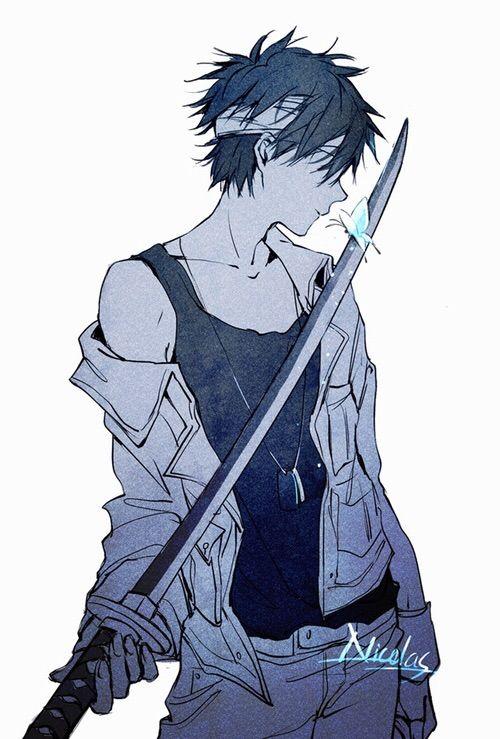 刀を持つニコラス