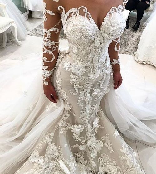 Pin By The Gardens At Harmony On Bridal Couture Long Sleeve Bridal Gown Long Sleeve Mermaid Wedding Dress Wedding Dress Long Sleeve