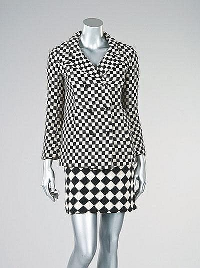 The Marit Allen Collection of Foale & Tuffin Fashion, lots 142-158 An important Foale & Tuffin black and white checked wool 'mod' suit, 1964