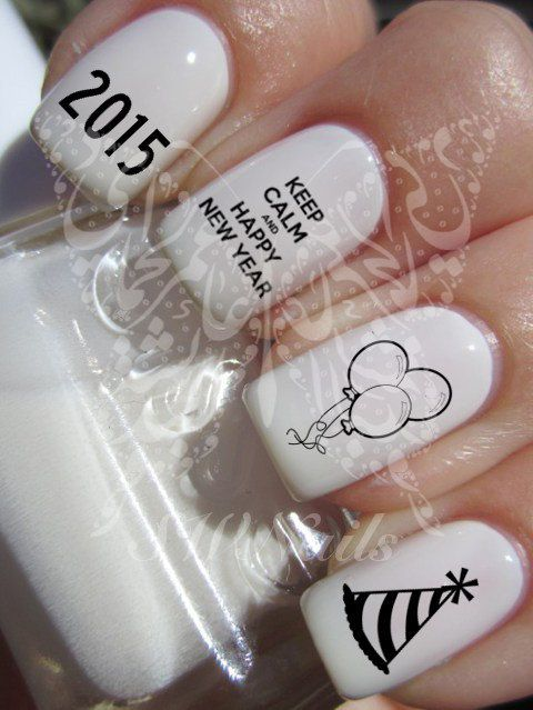 Keep Calm and Happy New Year 2015 New Years Eve by SWNails on Etsy