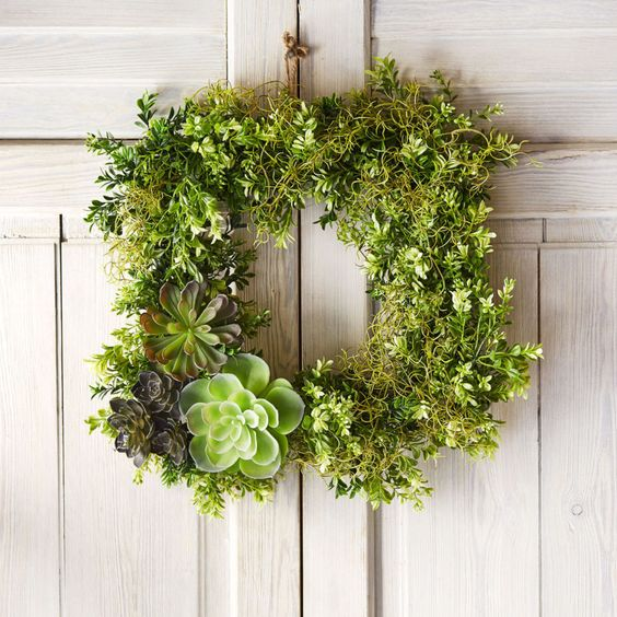 Square wreath frame by ashland wreaths and succulents