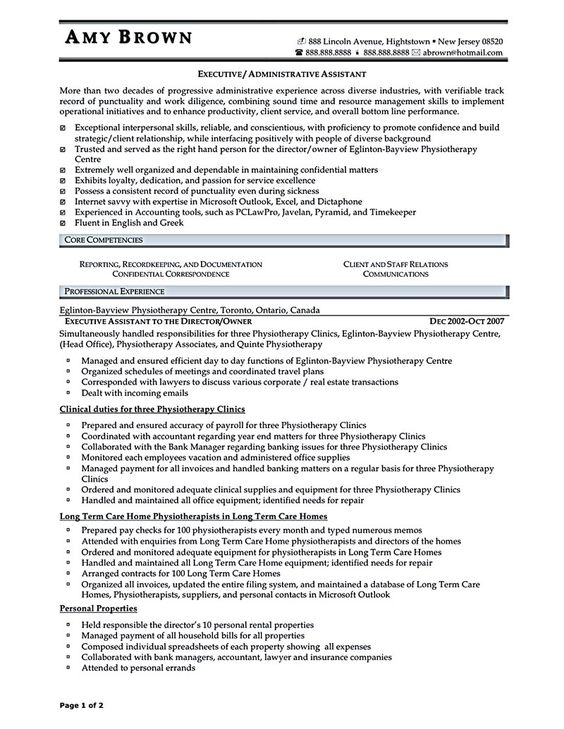Field Executive Resume sample executive assistant resume Executive assistant resume is made for those professional who are interested in
