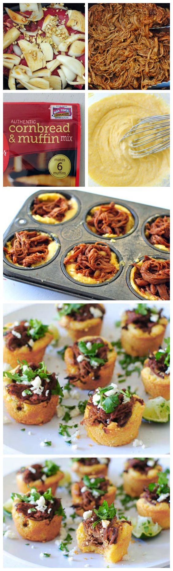 Steak and Cornbread Tamale Bites | Recipe | Tamales, Cornbread and ...