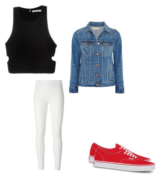 """Untitled #247"" by austynh on Polyvore featuring Madewell, T By Alexander Wang, Rick Owens Lilies and Vans"