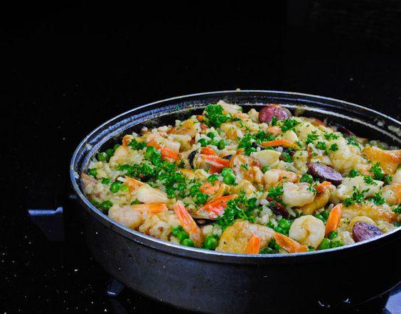 Paella by Jamie Oliver - super tasty