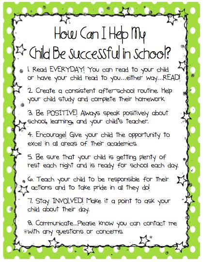 Ms. Sepp's Counselor Corner: How Can I Help My Child Be Successful in School?
