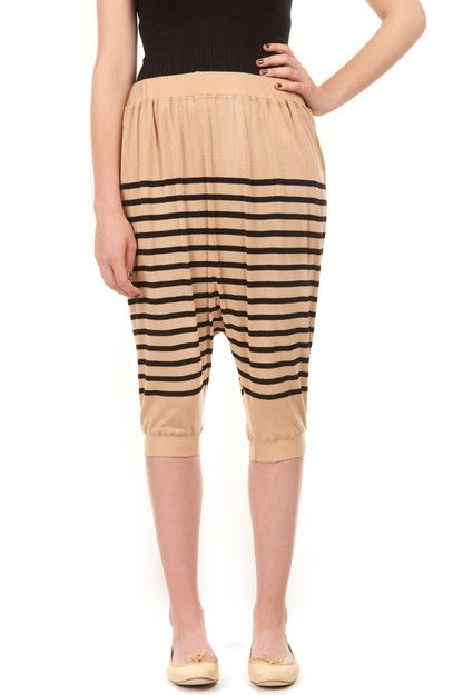 JEAN PAUL GAULTIER SAROUEL SHORTS - NUDE/NOIR - 4009008 - WOMEN - JUST IN ($100-200) - Svpply