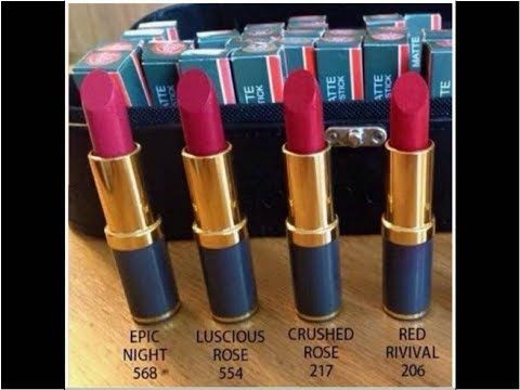 Medora Lipsticks Shades With Numbers Very Useful Video Youtube