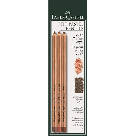 Farbstift PITT PASTEL 3er Set Ca. 4,75€