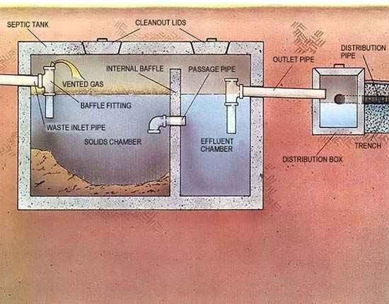 Septic System Full System Diagram Septic Tank Design Diy Septic System Septic System