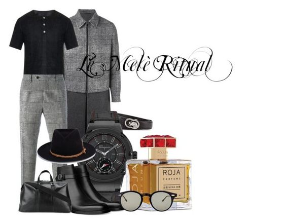 """Lé Melè Ritual by LoveBZAR!"" by andre-johnson ❤ liked on Polyvore featuring Neil Barrett, Balenciaga, Ermanno Scervino, Stefano Ricci, Salvatore Ferragamo, Nick Fouquet, Golden Goose, Roja Parfums, Thom Browne and men's fashion"