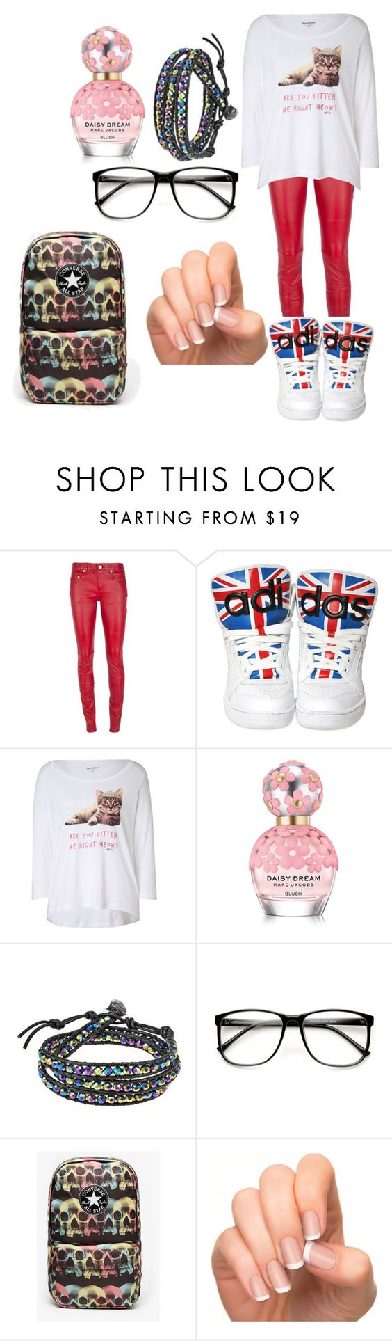 """"""""""" by ivana-milovanovic ❤ liked on Polyvore featuring Yves Saint Laurent, adidas, Juicy Couture, Marc Jacobs, AeraVida and Converse"""