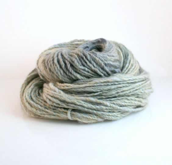 Yarn hand dyed Cashmere Mink yarn Emma hand spun Sandpiper 50 50 2 ply. $36.76, via Etsy.
