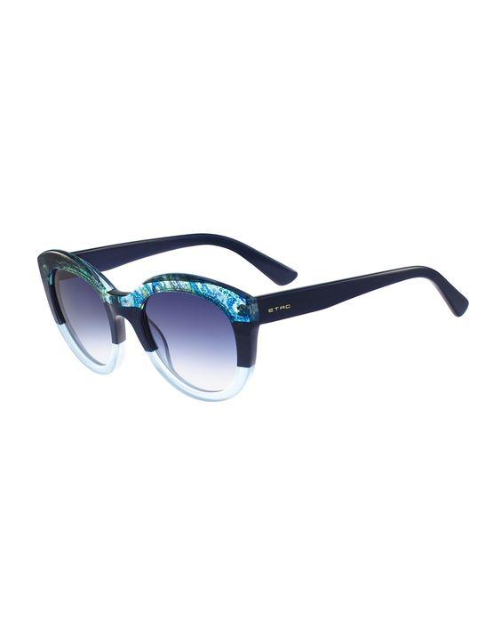 Paisley-Trim Cat-Eye Sunglasses