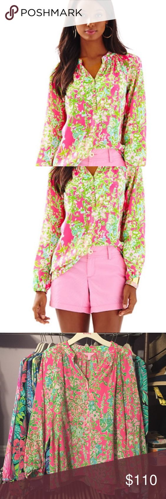 EUC Lilly Pulitzer Southern Charm Elsa Worn once for 1 hour. Looks perfect. Hard to find Lilly Pulitzer Tops Blouses