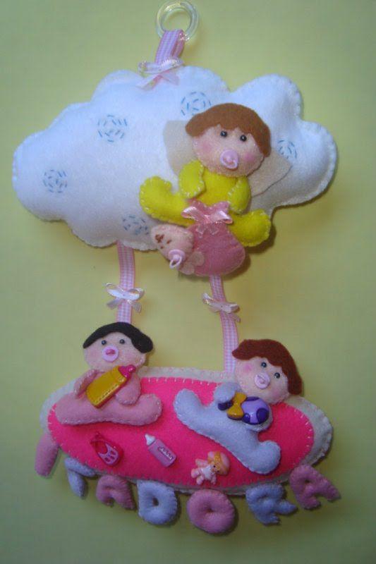 porta maternidade em feltro
