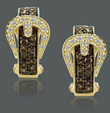 Jewel of the day: LeVian chocolate diamond buckle earrings ...I need these to go with my ring